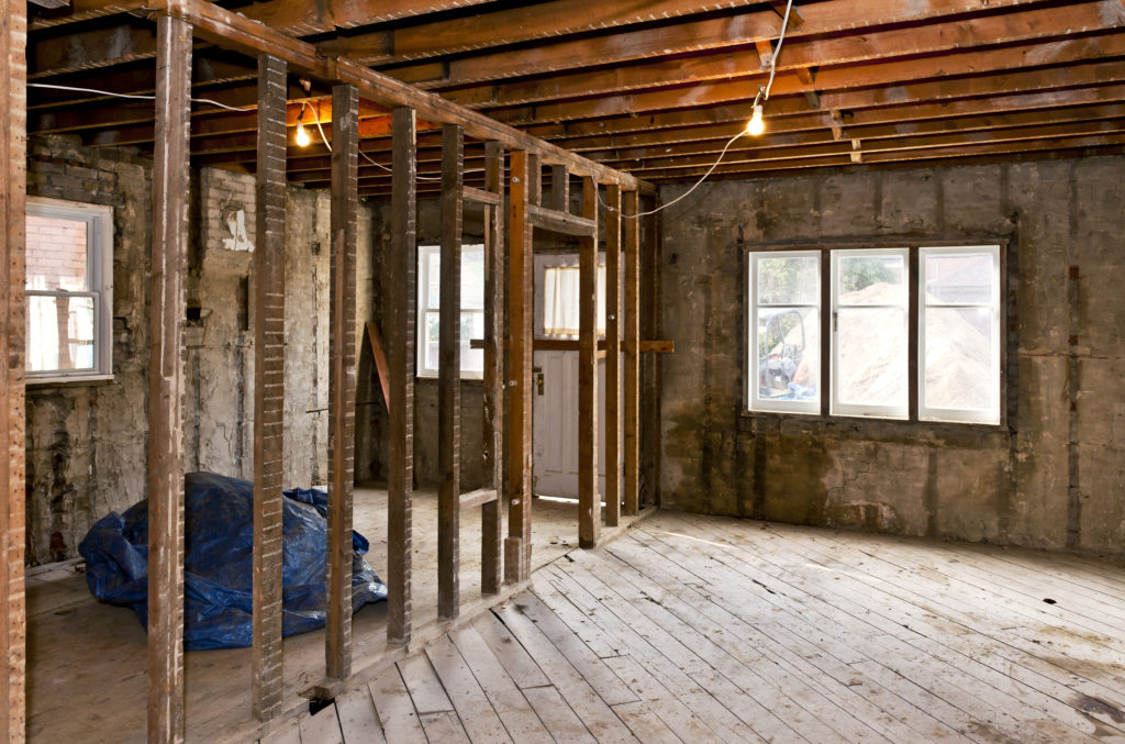 Renovation Gutted Interior Winnetka
