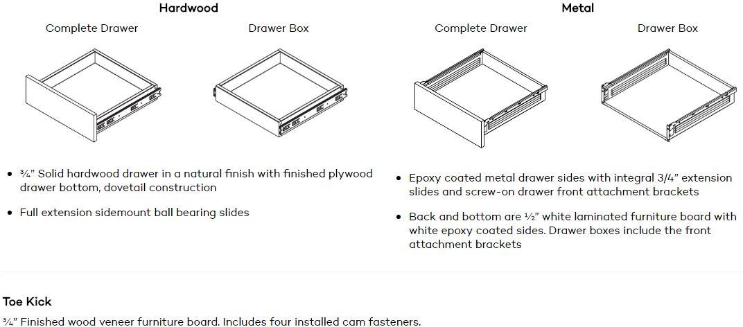 Closet Cabinet Wood Veneer Drawer
