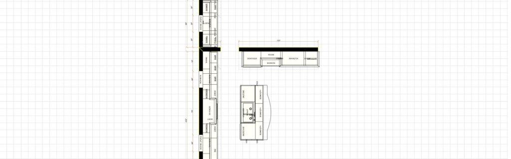 Kitchen Cabinet Design - Asbury Ln - Winnetka IL - Layout