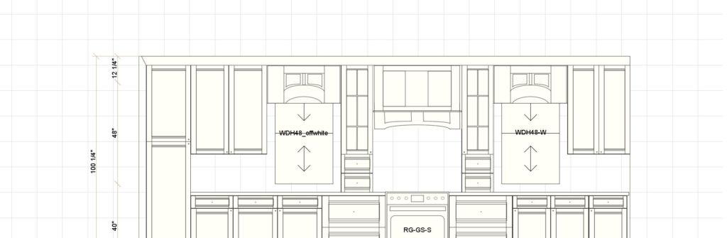 Kitchen Cabinet Design - Asbury Ln - Winnetka IL - Range Elevation
