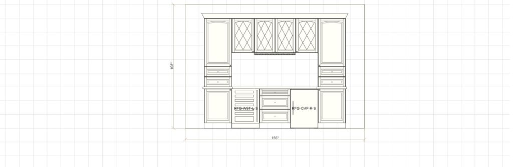 Kitchen Cabinet Design - Bar Elevation - Maple Ave - Northbrook IL