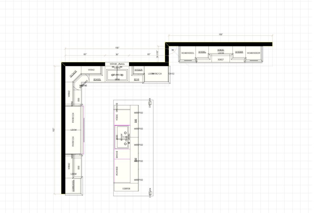 Kitchen Cabinet Design - Layout - Maple Ave - Northbrook IL