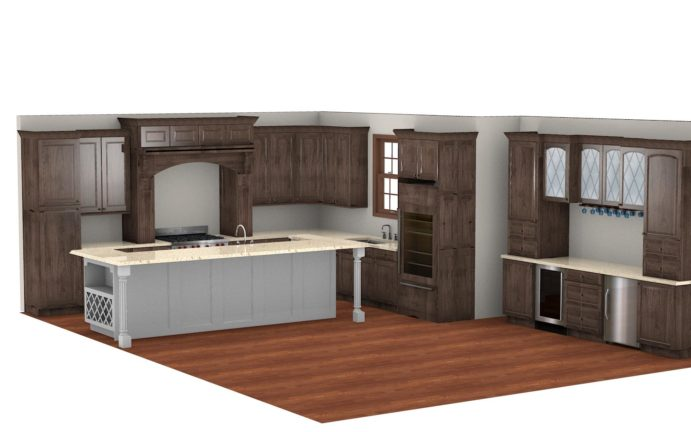 Kitchen Cabinet Design - Maple Ave- Northbrook IL