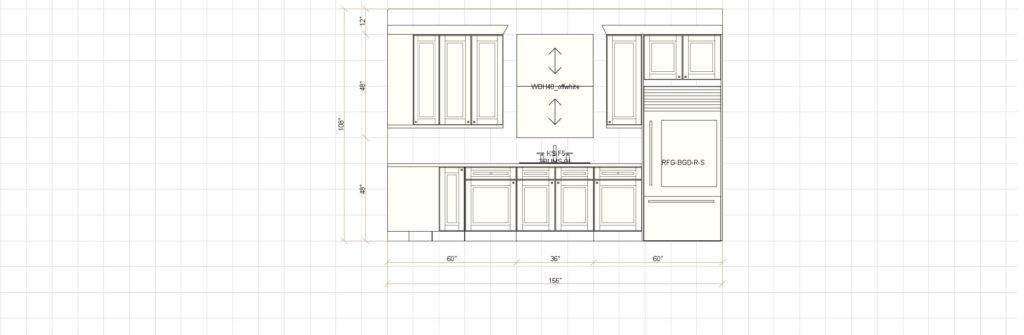 Kitchen Cabinet Design - Sink Elevation - Maple Ave - Northbrook IL
