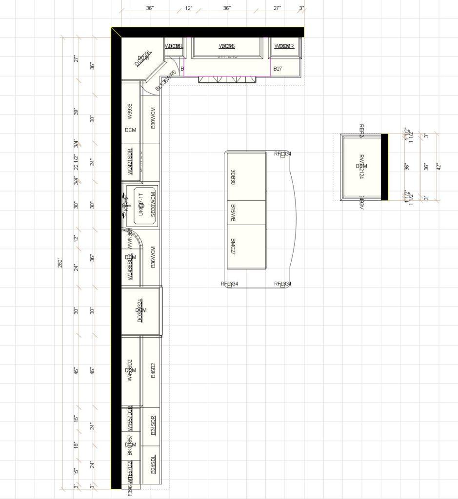 Kitchen Cabinet Layout - Park Ridge IL