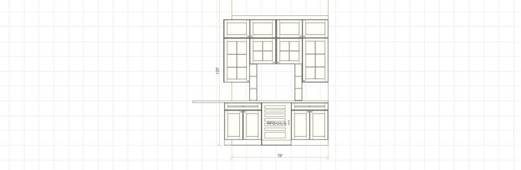 Kitchen Cabinet Design - Farnsworth Ln - Northbrook IL - Butler 2 Elevation