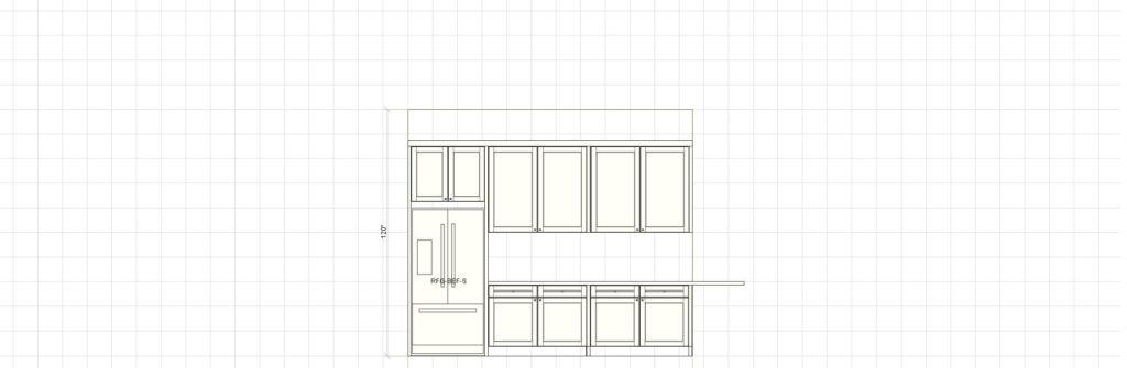 Kitchen Cabinet Design - Farnsworth Ln - Northbrook IL - Fridge Elevation