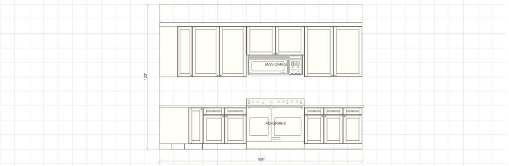 Kitchen Cabinet Design - Farnsworth Ln - Northbrook IL - Range Elevation