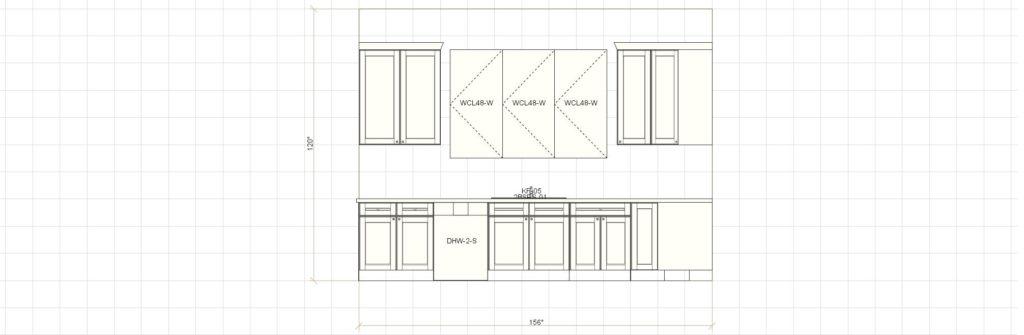 Kitchen Cabinet Design - Farnsworth Ln - Northbrook IL - Sink Elevation