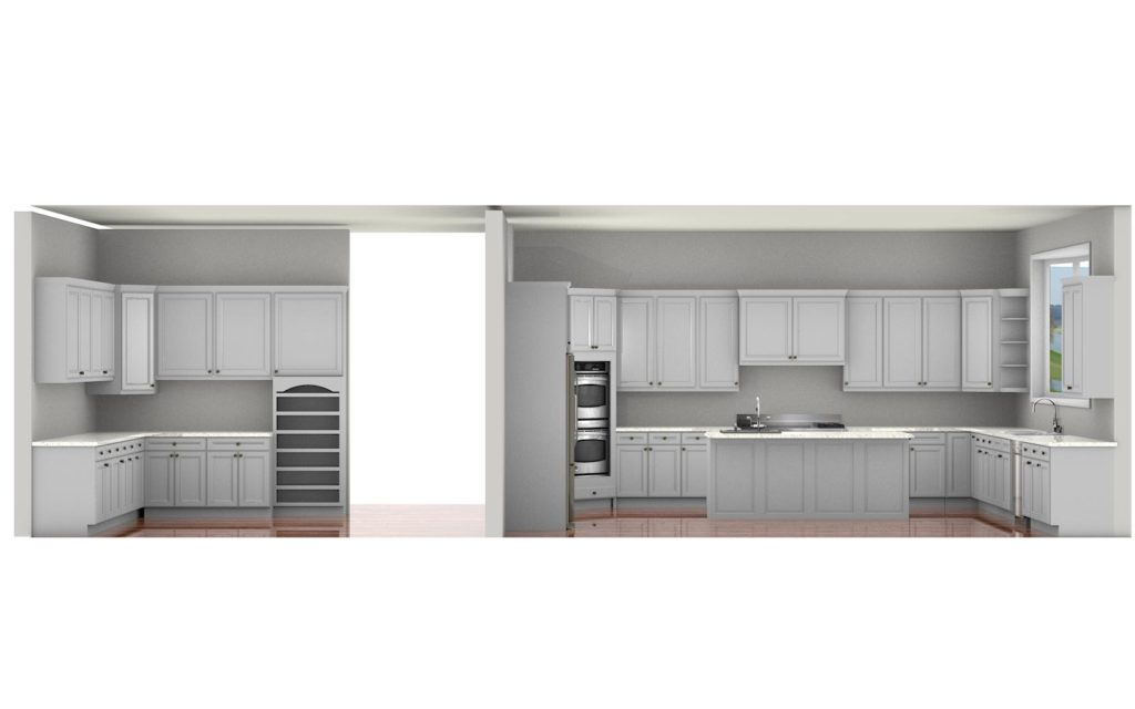 Kitchen Cabinet Design - Francess Ln - Barrington IL - 3D