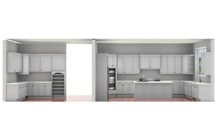 Kitchen Cabinet Design - Francess Ln - Barrington IL - 3D