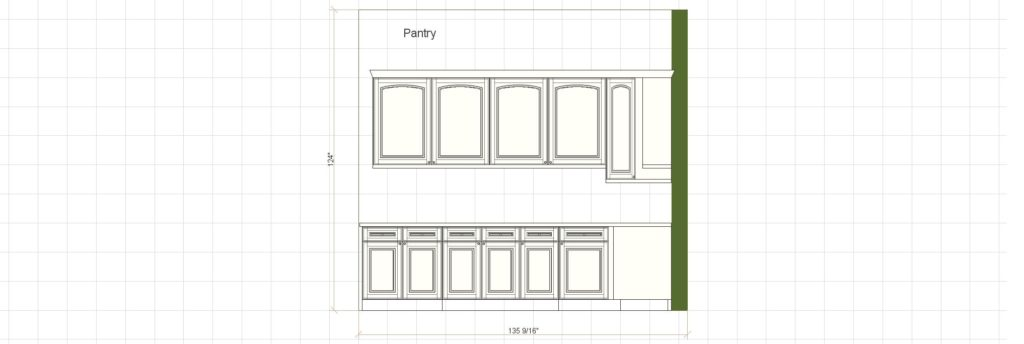 Kitchen Cabinet Design - Francess Ln - Barrington IL - Pantry 2 Elevation