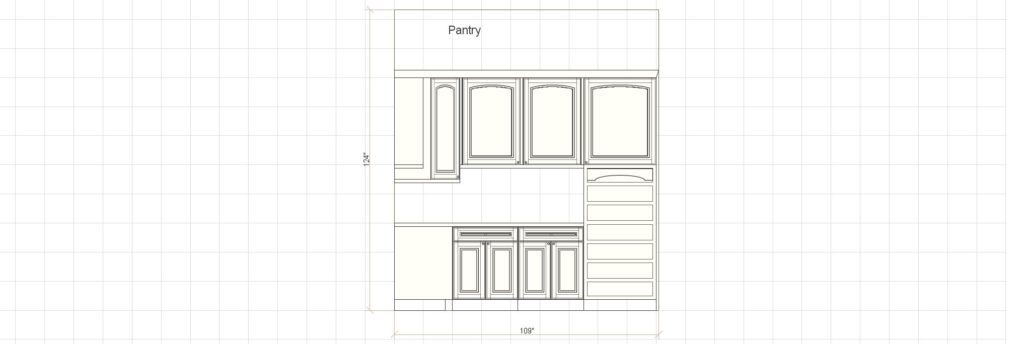 Kitchen Cabinet Design - Francess Ln - Barrington IL - Pantry Elevation