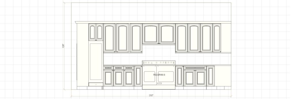 Kitchen Cabinet Design - Francess Ln - Barrington IL - Range Elevation