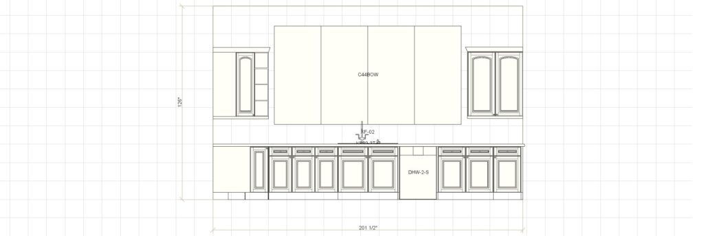 Kitchen Cabinet Design - Francess Ln - Barrington IL - Window Elevation