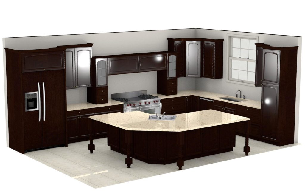 Kitchen Cabinet Design - Shermer Rd - Northbrook IL - 3D