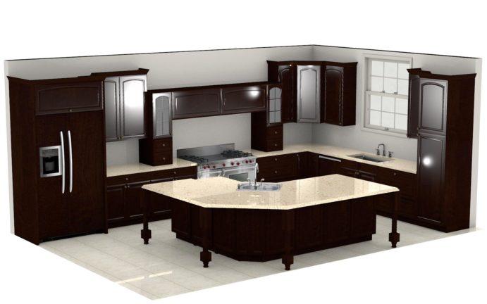 Kitchen Cabinet Design - Shermer Rd - Northbrook IL - 3D