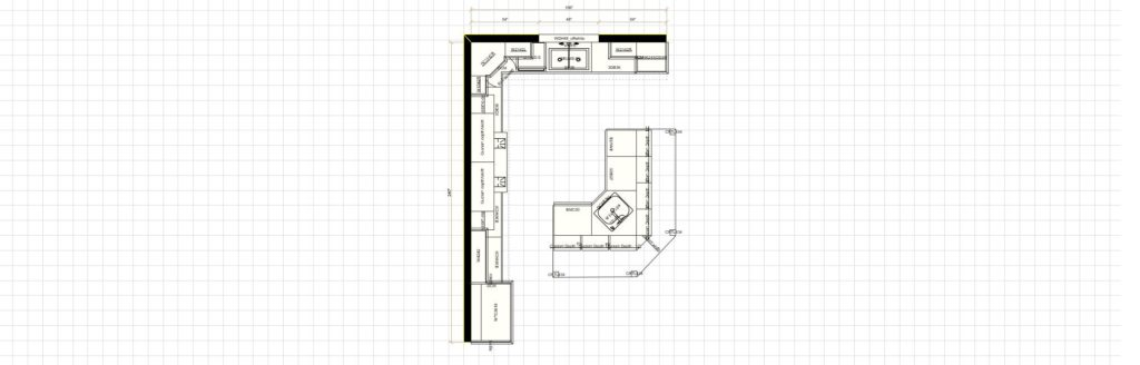 Kitchen Cabinet Design - Shermer Rd - Northbrook IL - Layout
