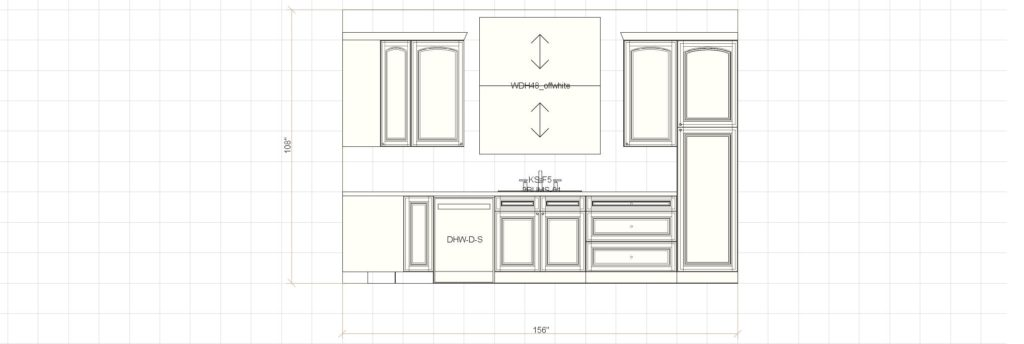Kitchen Cabinet Design - Shermer Rd - Northbrook IL - Window Elevation