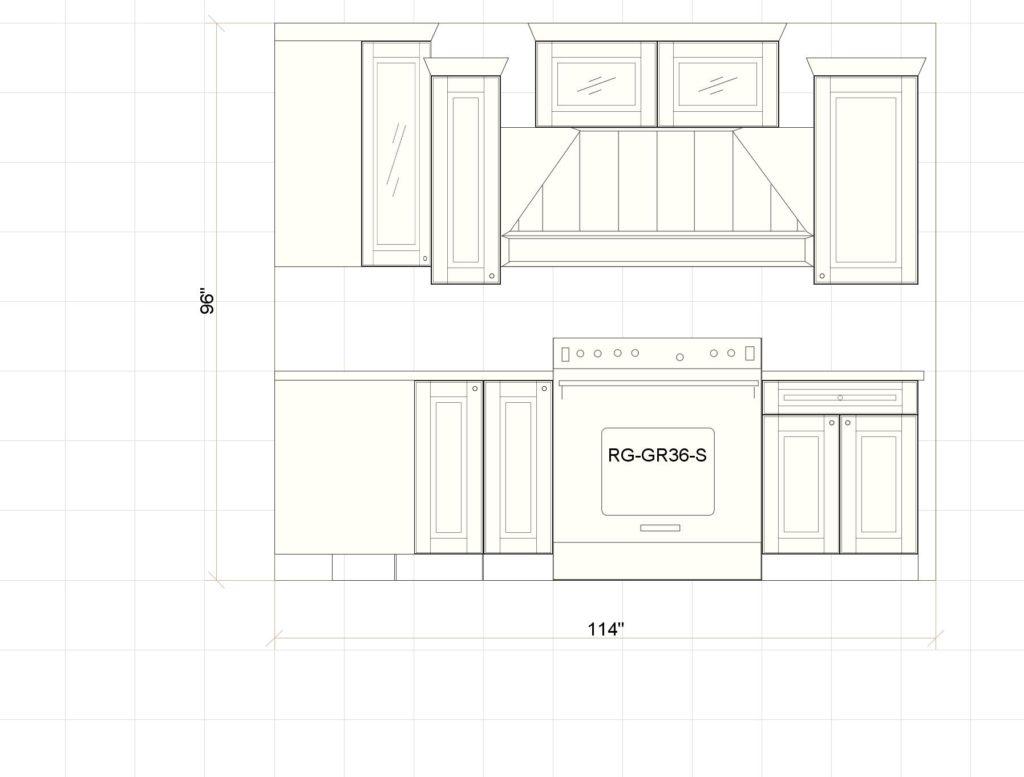 Kitchen Cabinets Park Ridge Range Elevation