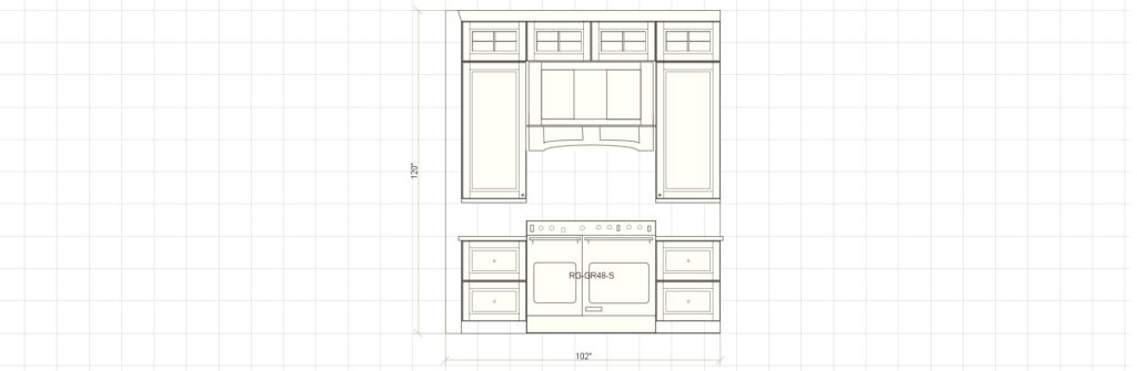 Kitchen Cabinet Design Edgewood Ln Winnetka IL Range Elevation