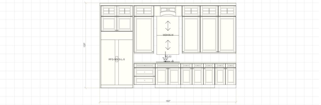 Kitchen Cabinet Design Edgewood Ln Winnetka IL Sink Elevation