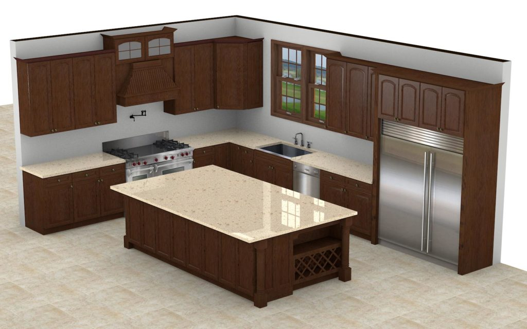 Kitchen Cabinet Design - Grove Ave - Barrington IL