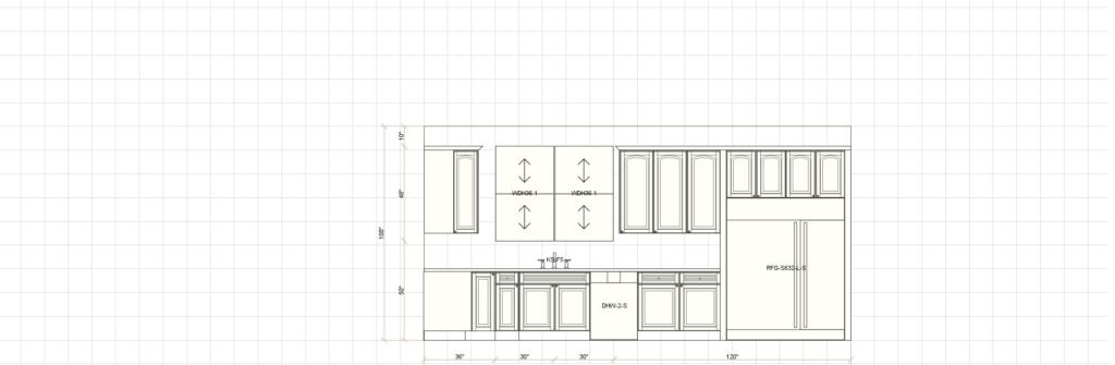 Kitchen Cabinet Design - Grove Ave - Barrington IL - Range Elevation