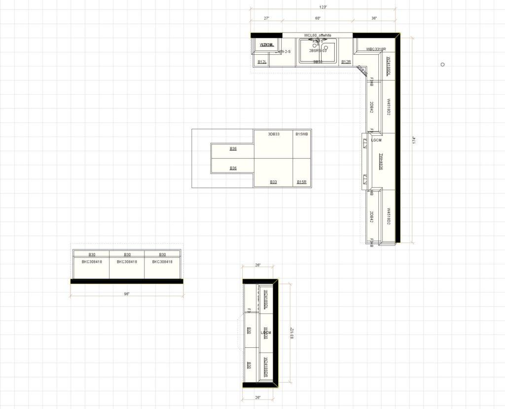 Kitchen Cabinet Design - Layout- Fairview Rd Glencoe