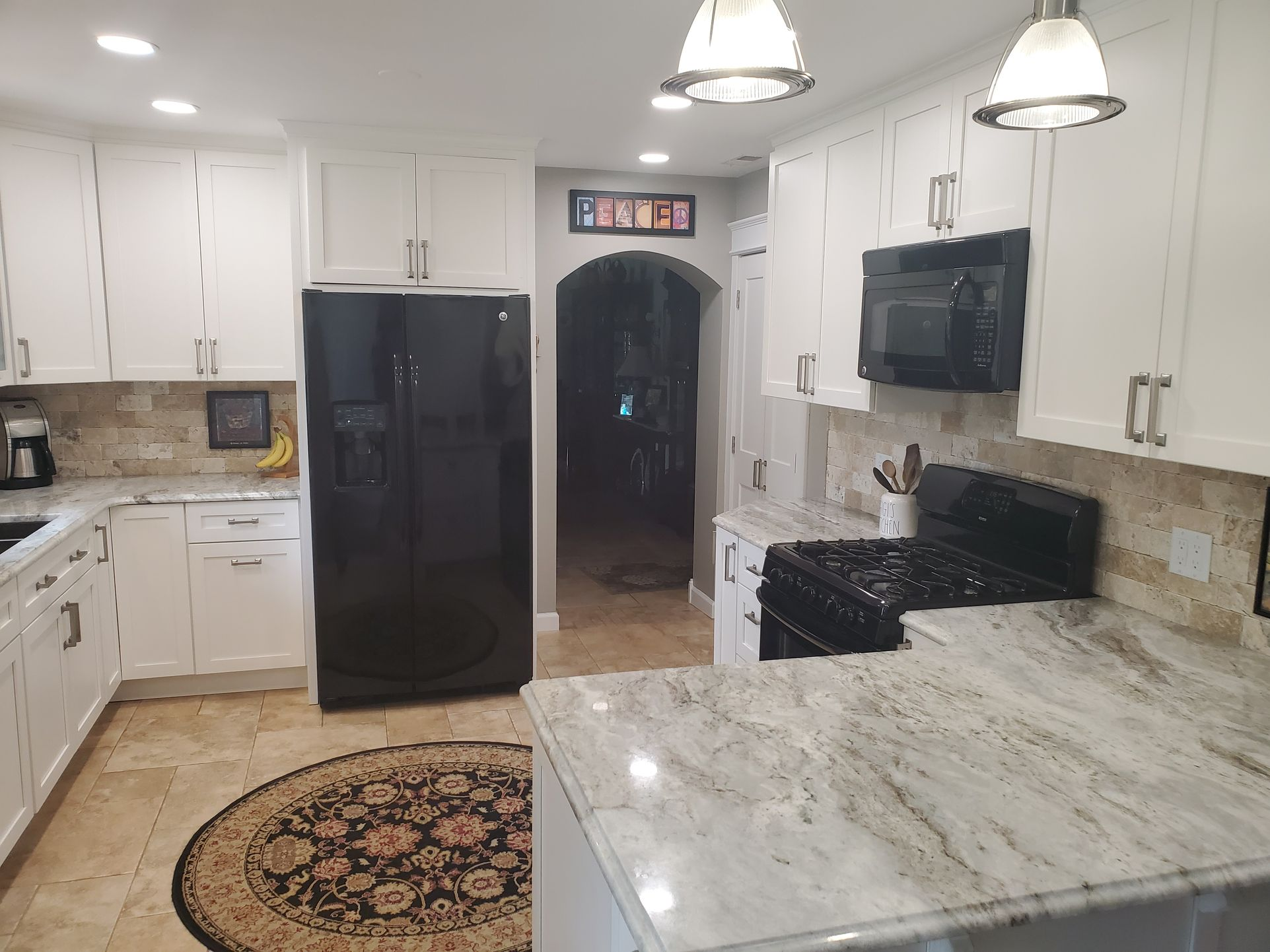 David Harney Kitchen Cabinets Renovation Sunset Ln Antioch IL Fridge