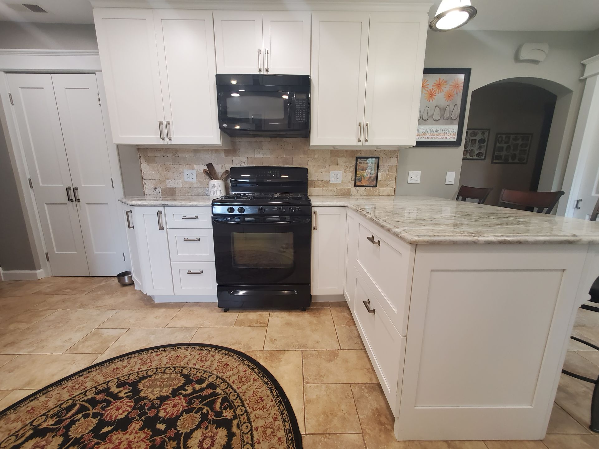 David Harney Kitchen Cabinets Renovation Sunset Ln Antioch IL Range